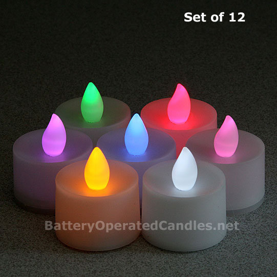 Flameless Color Changing Led Battery Operated Set Of 12
