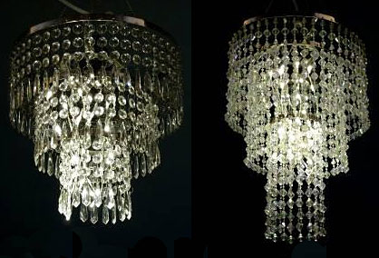 Battery Operated Hanging Chandelier Lite Kit 32 Led S