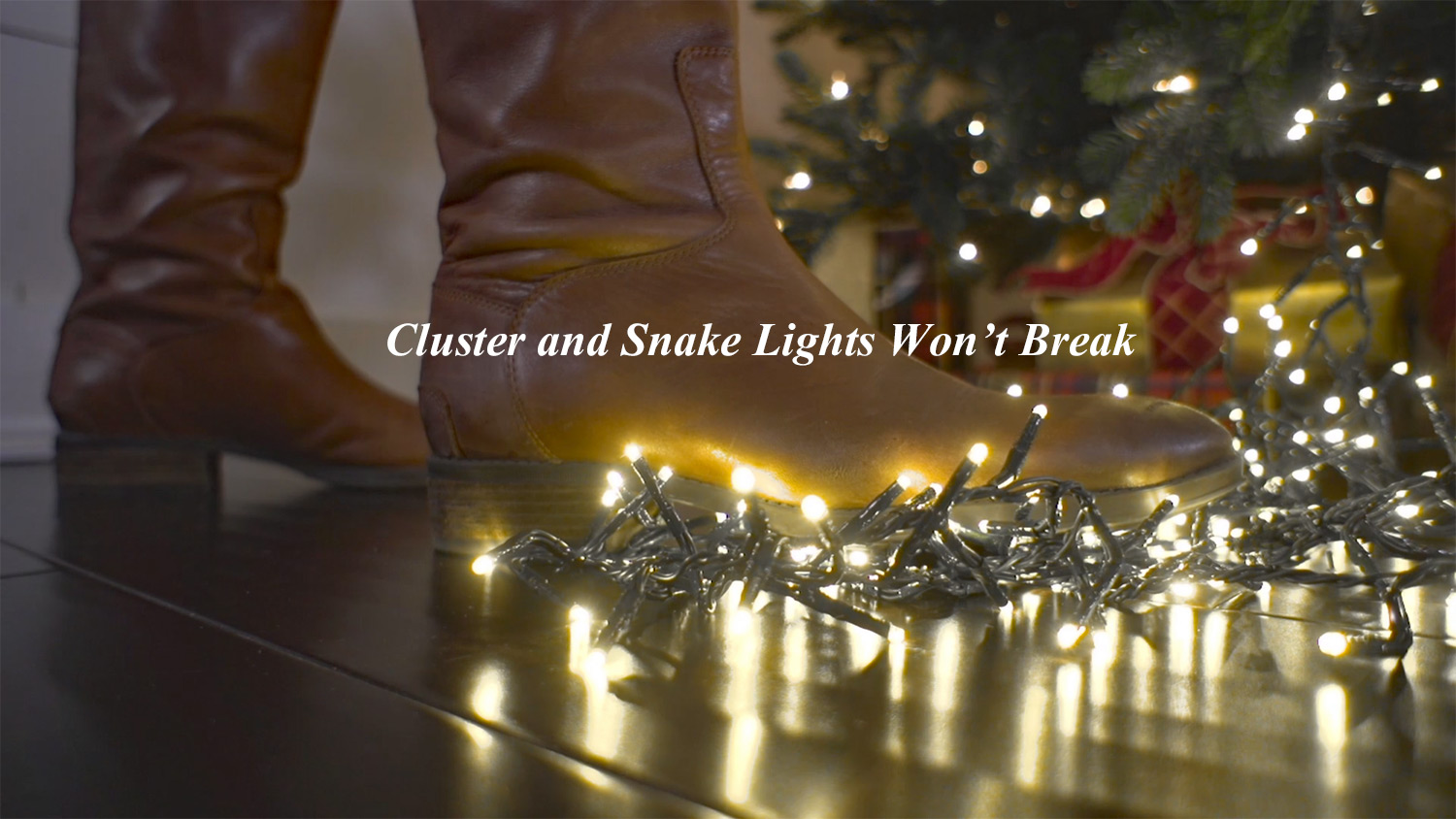 44 foot christmas cluster lights with 1300 warm white led garland clear wire remote control
