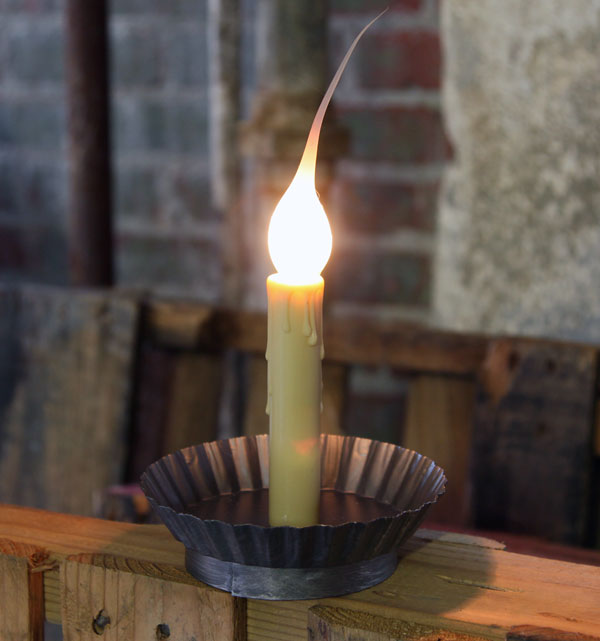... Electric Primitive Non Flicker 4.5 Inch Candle Lamp Antique Pewter Base - Electric Primitive Non Flicker 4.5 Inch Candle Lamp Antique Pewter