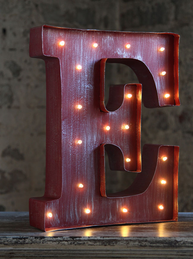 light up wall letters led wall battery operated 12 inch lighted metal 23444 | e letter