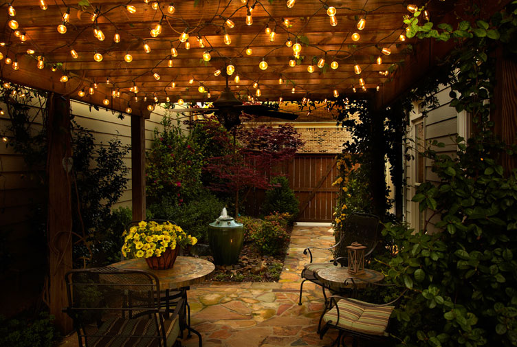 Cafe Style LED String Light Set - 25 Lights 20 Feet - End To End