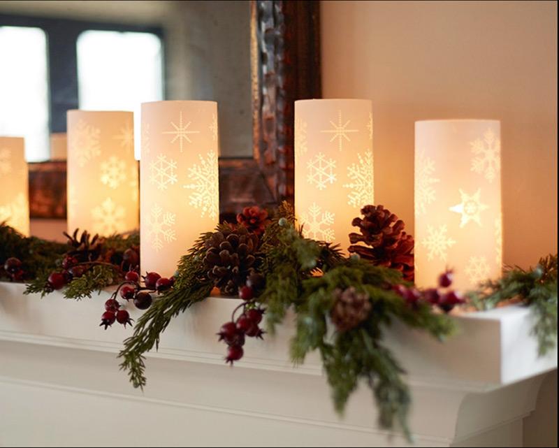 Luminary 5 Piece Electric Pillar Ivory Candle Set