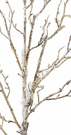 41 inch snow and ice covered birch branch from raz buy now