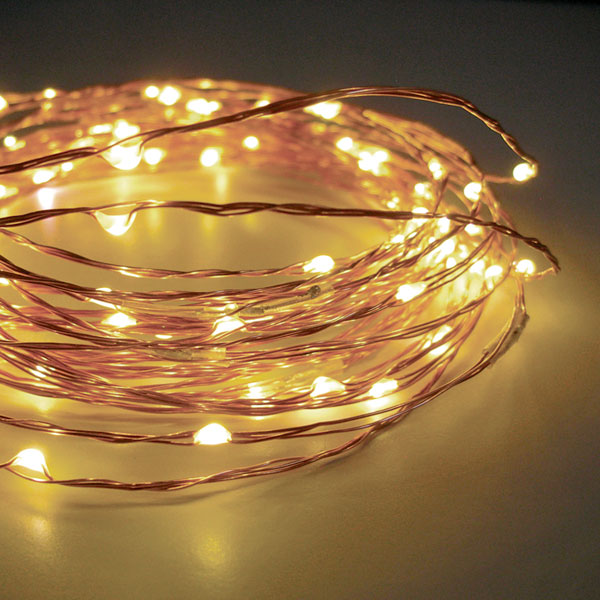 Outdoor String Lights With Timer : 60 Warm White LED String Lights Battery Operated - 20 Feet with Timer - Buy Now