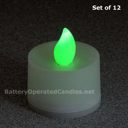 Green Tealight 12 Pack Jpg