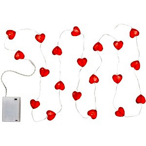 size 40 c0ebd 3da39 Red Heart String Lights - Set of 2 With 40 Lights - 6 Hour Timer