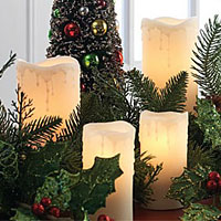 Electric Pillar Candle Sets Plug In Convenience