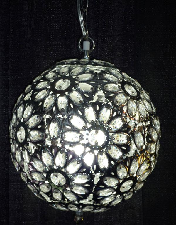 Large Round Crystal Jewel Hanging Chandelier 14 Inch Diameter – Crystal Hanging Chandelier