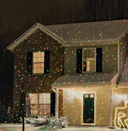 christmas laser light show with green and red lights photo cell - Christmas Laser Lights Outdoor