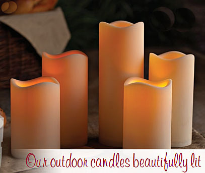 ... Outdoor Battery Operated Candle 4.5 x 6 with Timer - Batteries Included & Outdoor Battery Operated Candle 4.5 x 6 with Timer - Batteries ...