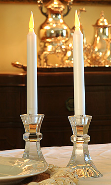 9 Inch Ivory Taper Candle Battery Operated Timer Buy Now