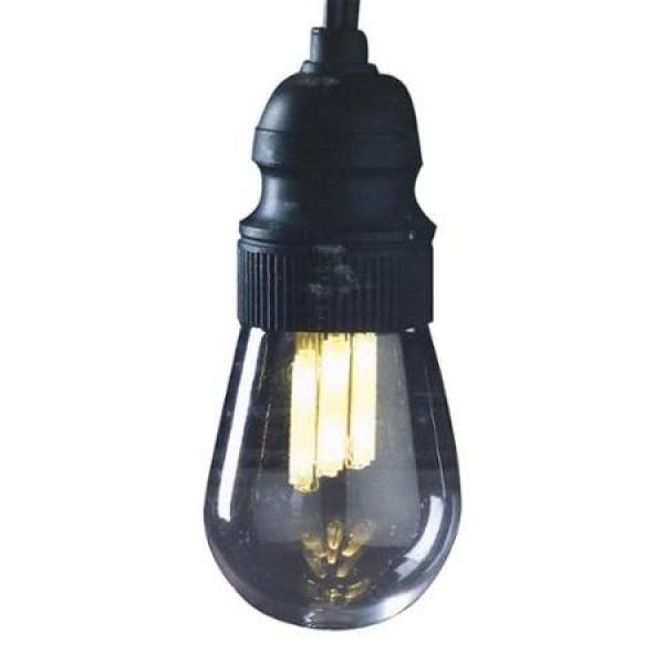 GKI Bethlehem Light String 10 Light - Black Wire - Edison - Warm ...