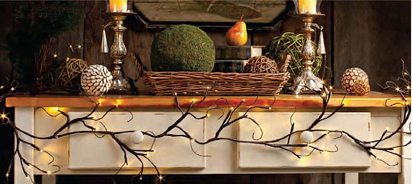 Battery Operated Lighted Garland   6 Feet 60 Warm White LEDu0027S   Timer