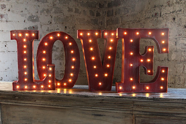 Red Metal Letters With Lights Enchanting Led Wall Art Battery Operated  12 Inch Lighted Metal Letters Design Ideas