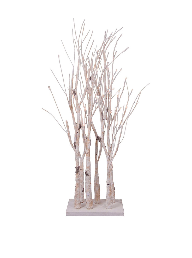 Battery Operated Birch Clump Branch On Stand 28 Inch