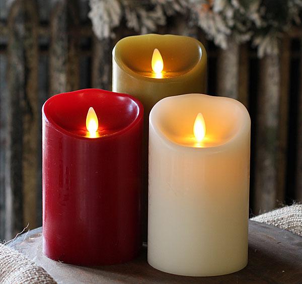 Burgundy Luminara Flameless Candle with Timer