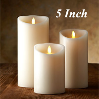 luminara ivory candle battery operated 35 x 5 timer remote ready