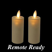 moving flame 3 inch ivory votives battery operated set of 2 remote ready