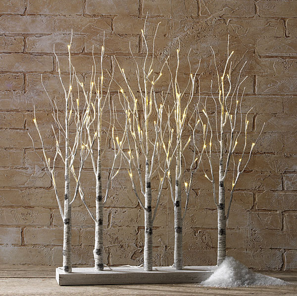 RAZ Lighted Birch Tree Forest 30 Inch