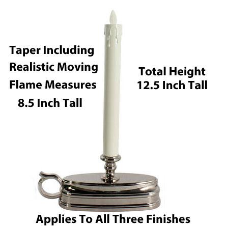 Set of 2 Luminara Window Candle Battery Operated 12 Inch Brass ...