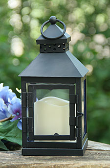 Battery Operated Metal Lantern 4 X 9 Batteries Included
