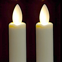 Flameless Taper Candles Battery Operated