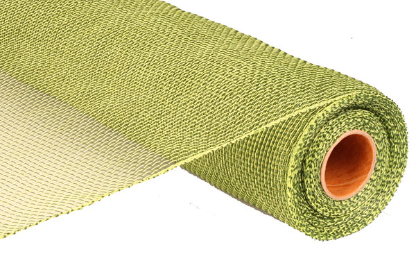 Deco Poly Mesh Solid Moss Apple Green 21 Inch Roll Buy Now