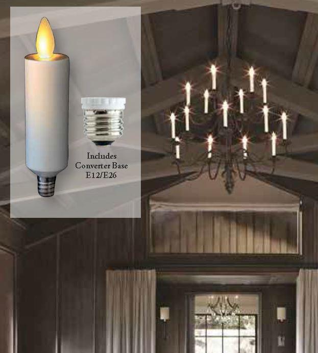 Moving Flame Chandelier Bulb For Candelabra Base Or E26