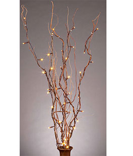 Battery Operated Natural Twig Branch 50 Warm White Led 6 Hour Timer