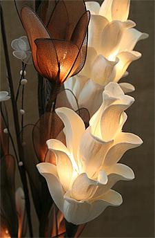 Natural Elements Thai Lotus Lighted Floral Arrangement