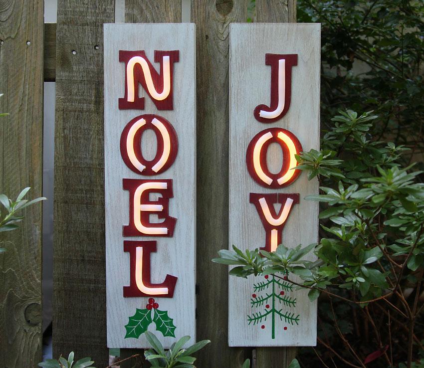 Neon Joy Lighted Wood Christmas Wall Hanging 19 5 Inch