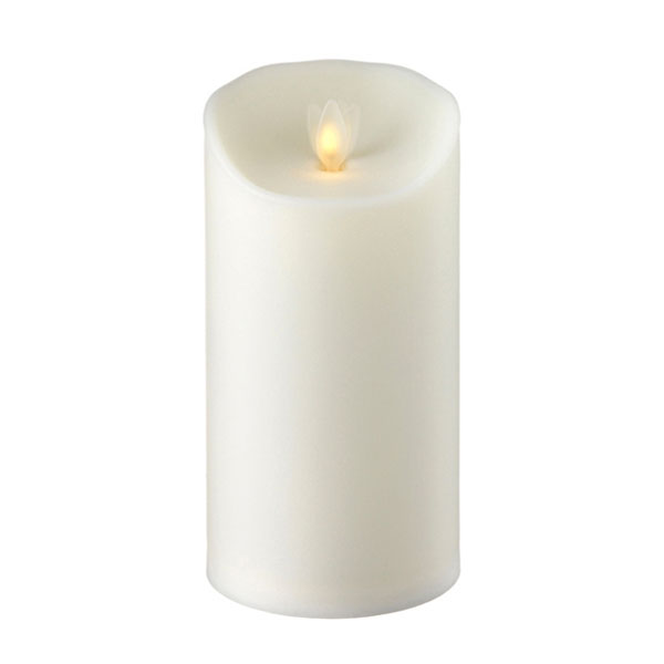 Outdoor Moving Flame Ivory Resin Battery Operated Candle 3