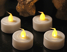 Tea Lights With Automatic Timer Set Of 4