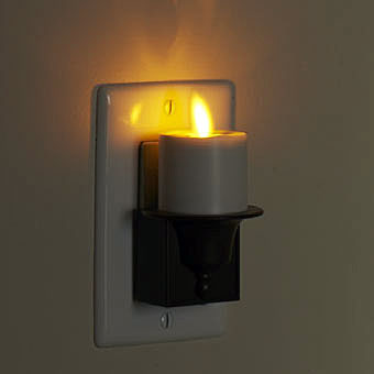 Moving Flame Night Light With Auto Sensor