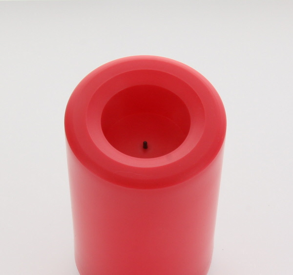 Outdoor Red Candle Impressions Flameless Candle 3 X 5