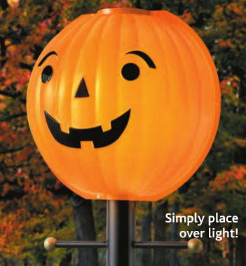 Lamplighters Outdoor Lamp Post Globe Pumpkin