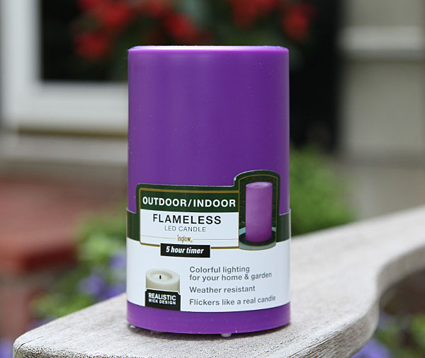 Outdoor Purple Candle Impressions Flameless Candle 3 X
