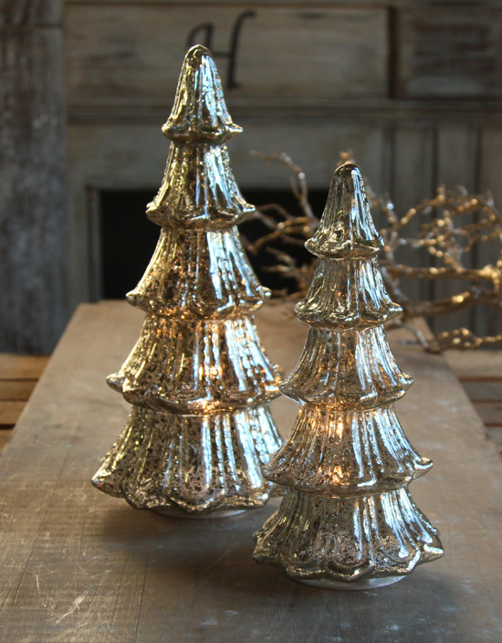 White Metal Christmas Tree With Lights