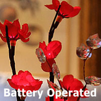 Battery Operated Brown Willow Branch 20 Inch 60 LED with Timer