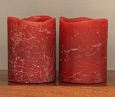 Battery Operated Burgundy Wax Votive 2 x 2.5 Set of 2