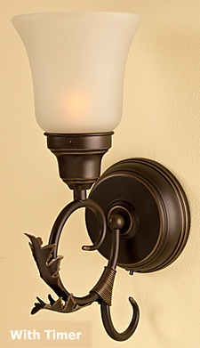 Rubbed Oil Bronze Battery Wall Sconce With Timer - Buy Now