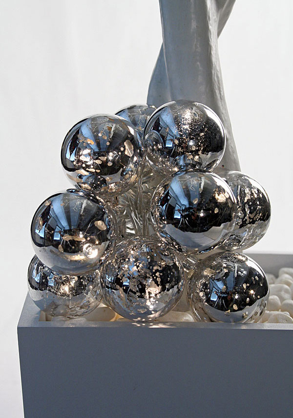 Battery Operated Silver Crackle String Lights - 10 Lights.
