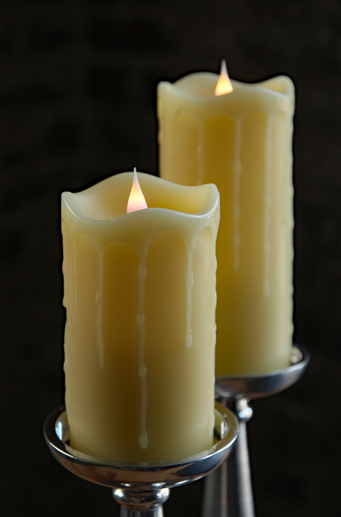 Moving Flame Simplux Ivory Led Drip Candle 5 Inch Multi
