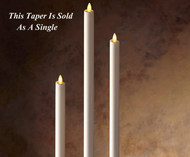 Luminara 15 Inch Ivory Taper Candle Timer And Remote Ready