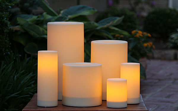 Outdoor 3 X 6 Candle Impressions Cream Flameless Candle
