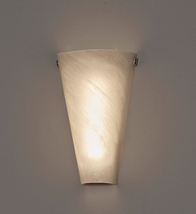 Superieur ... Battery Powered Wall Sconce Frosted Marble Conical Shade    Indoor/Outdoor ...