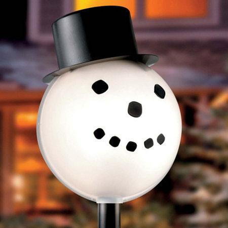 Lamplighters Outdoor Lamp Post Globe Snowman