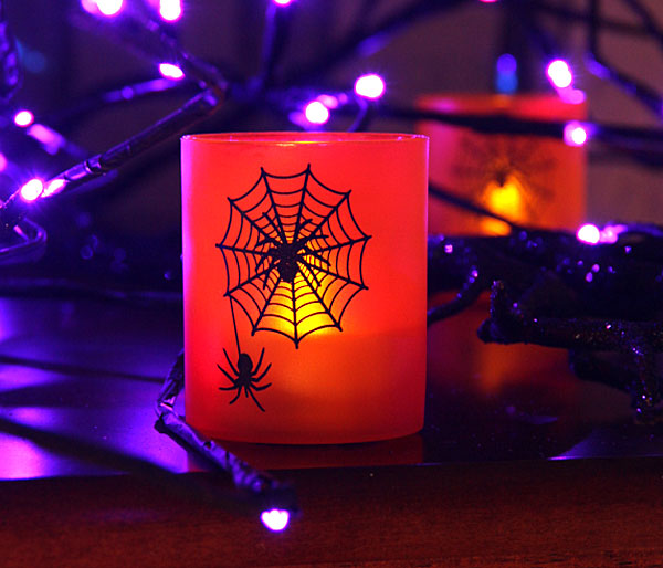 Special Halloween Votive With Flickering Flameless Tealight