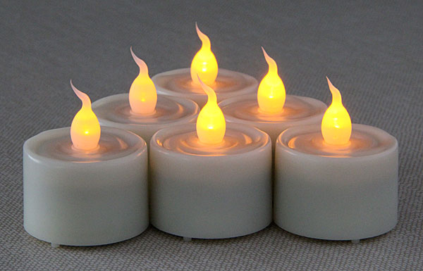 Super Bright Long Lasting Set Of 6 Tealights With 6 Hour